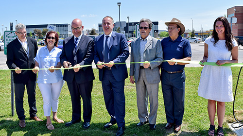 Ribbon cutting for Vaughan Electric Charging Station