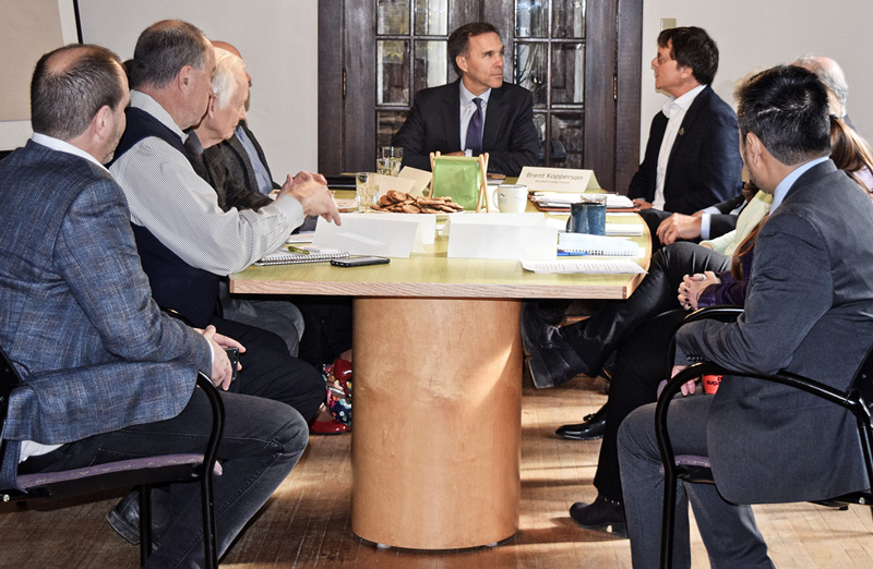 Picture of Bill Morneau and ClimateWise members