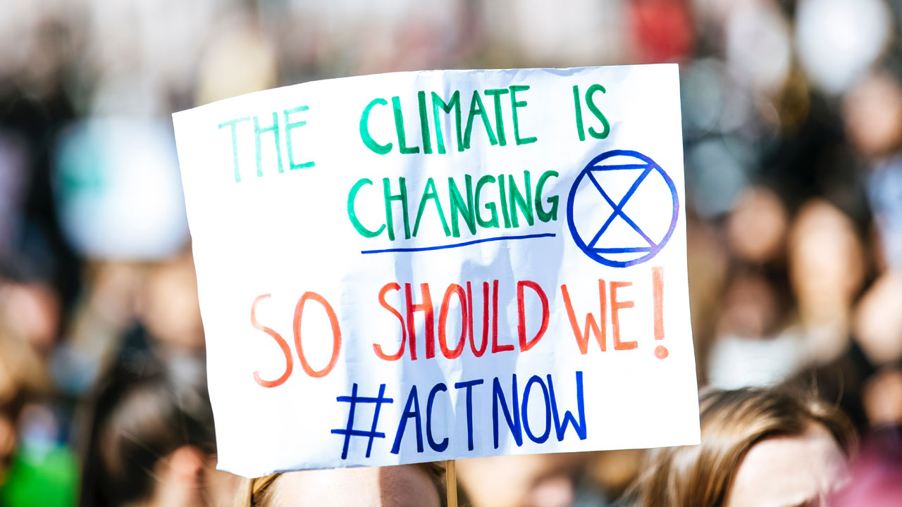 image: protesting for climate action