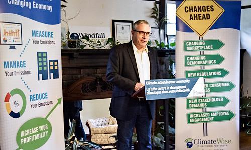 MPP Chris Ballard at Windfall Centre