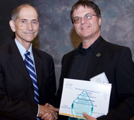 image: Brent Kopperson receives the York Region Community Character Award